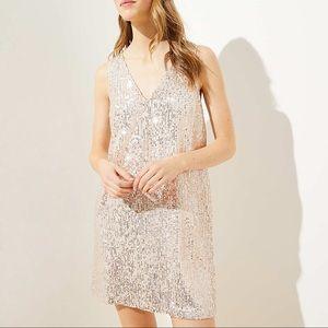 New Ann Taylor loft Sequin Bow Back Dress Size 6P